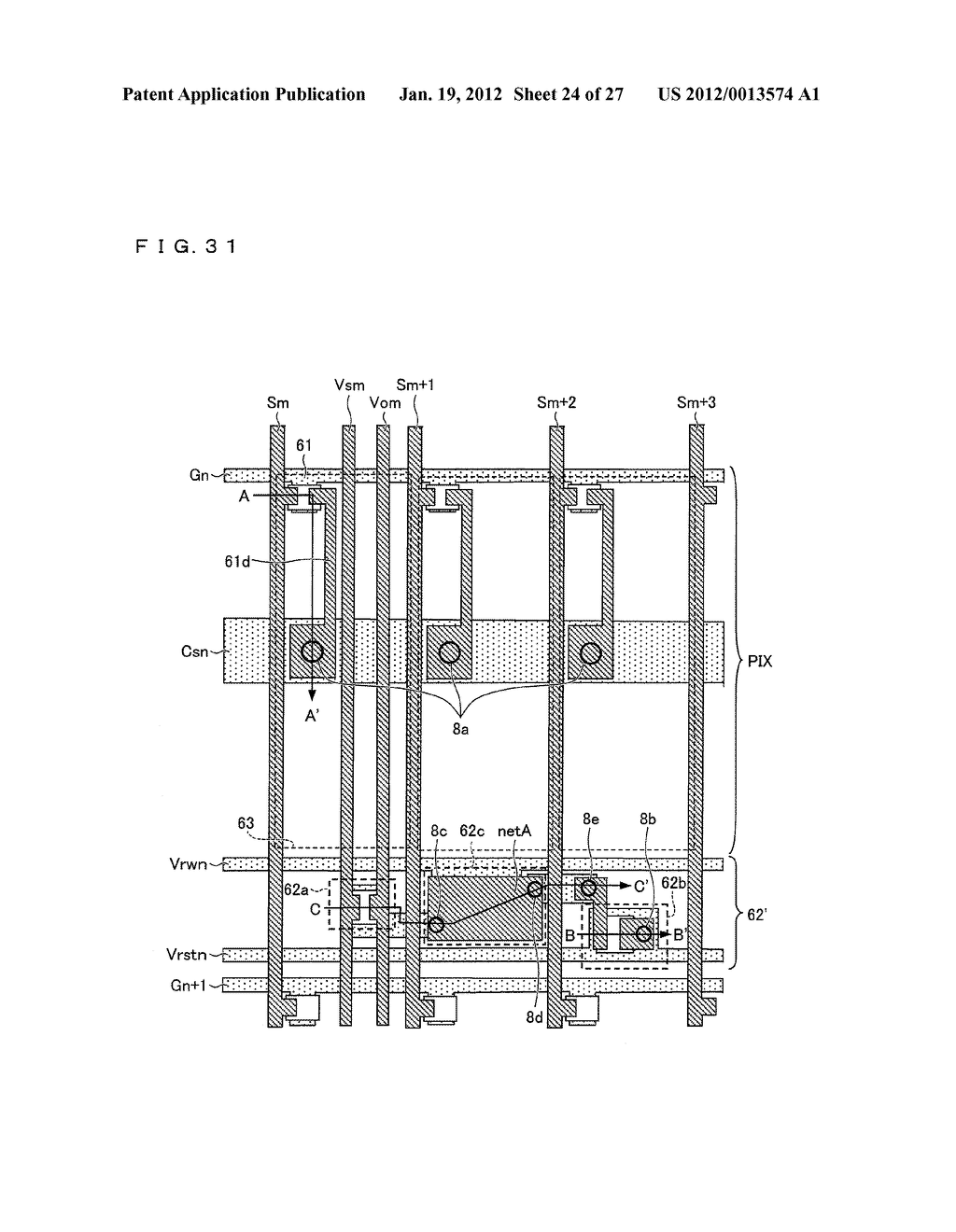 DISPLAY DEVICE AND DRIVING METHOD FOR DISPLAY DEVICE - diagram, schematic, and image 25