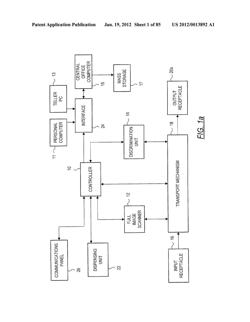 CHECK AND U.S. BANK NOTE PROCESSING DEVICE AND METHOD - diagram, schematic, and image 02