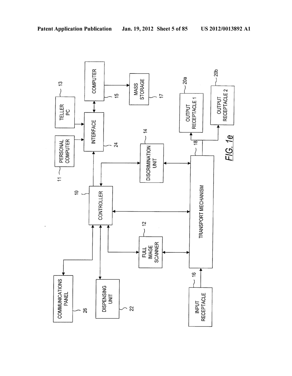 CHECK AND U.S. BANK NOTE PROCESSING DEVICE AND METHOD - diagram, schematic, and image 06
