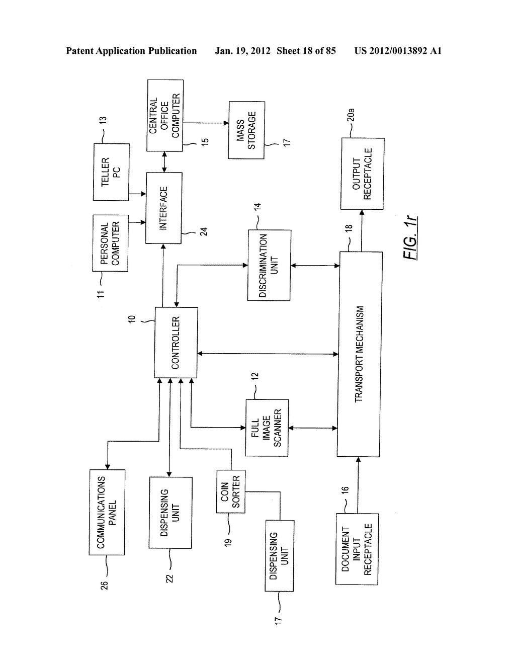 CHECK AND U.S. BANK NOTE PROCESSING DEVICE AND METHOD - diagram, schematic, and image 19