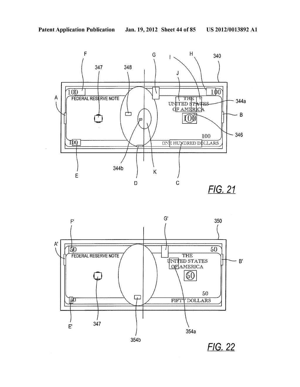 CHECK AND U.S. BANK NOTE PROCESSING DEVICE AND METHOD - diagram, schematic, and image 45