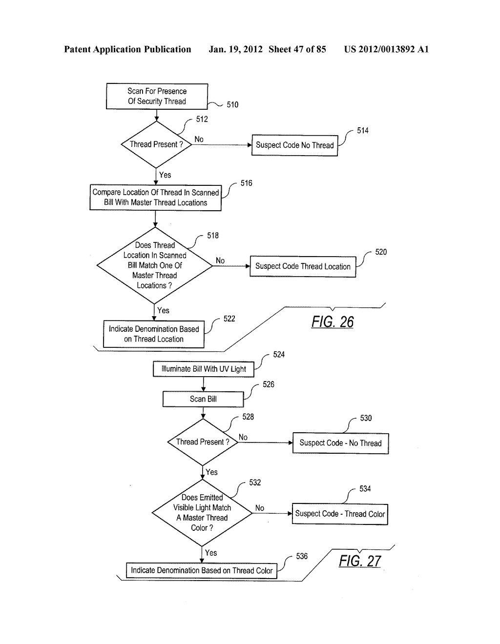 CHECK AND U.S. BANK NOTE PROCESSING DEVICE AND METHOD - diagram, schematic, and image 48