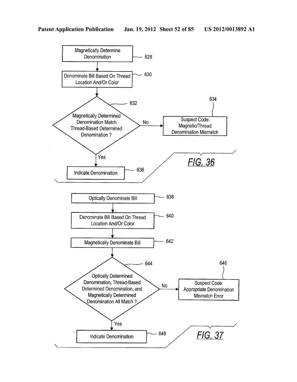 CHECK AND U.S. BANK NOTE PROCESSING DEVICE AND METHOD - diagram, schematic, and image 53