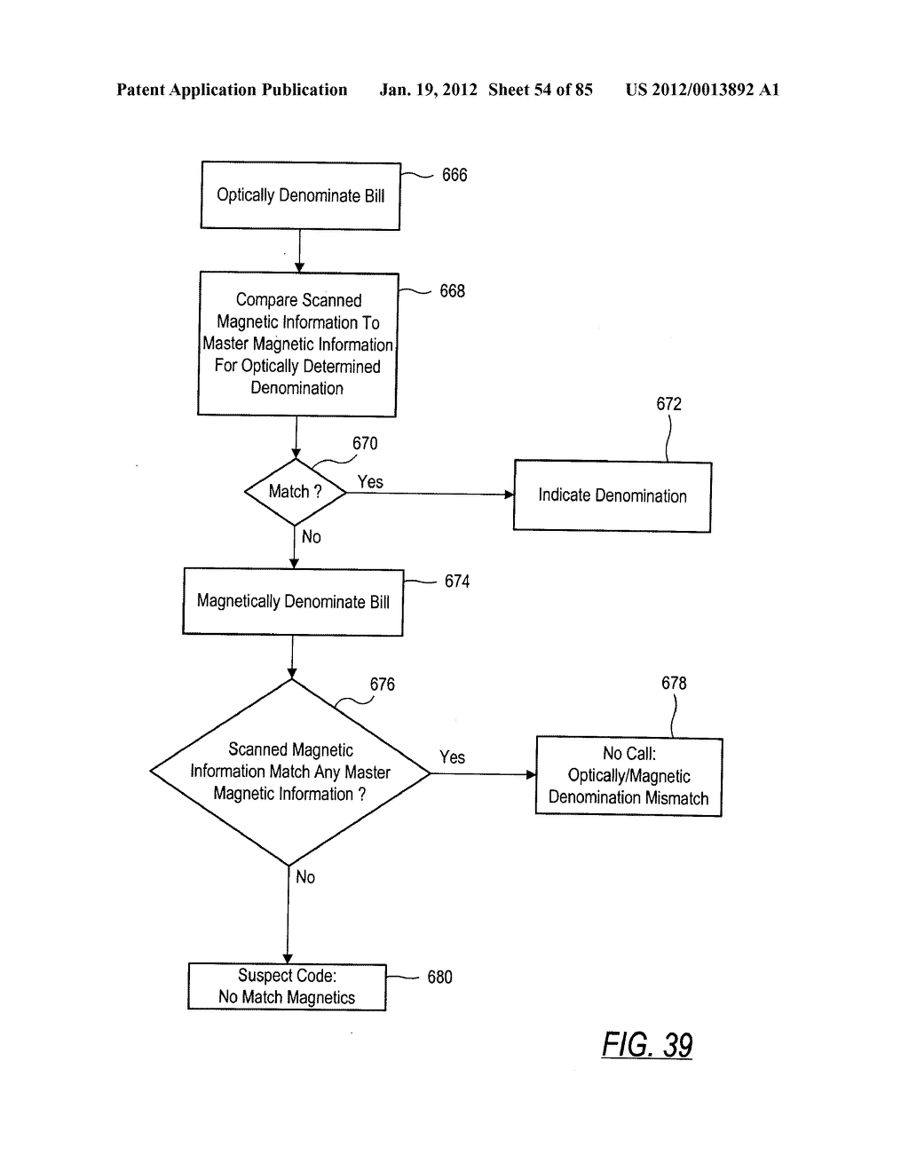 CHECK AND U.S. BANK NOTE PROCESSING DEVICE AND METHOD - diagram, schematic, and image 55