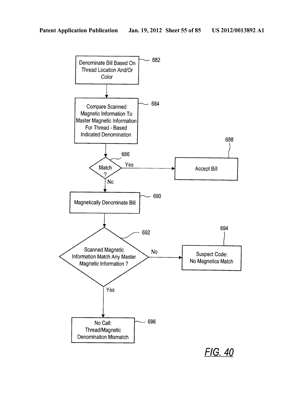 CHECK AND U.S. BANK NOTE PROCESSING DEVICE AND METHOD - diagram, schematic, and image 56
