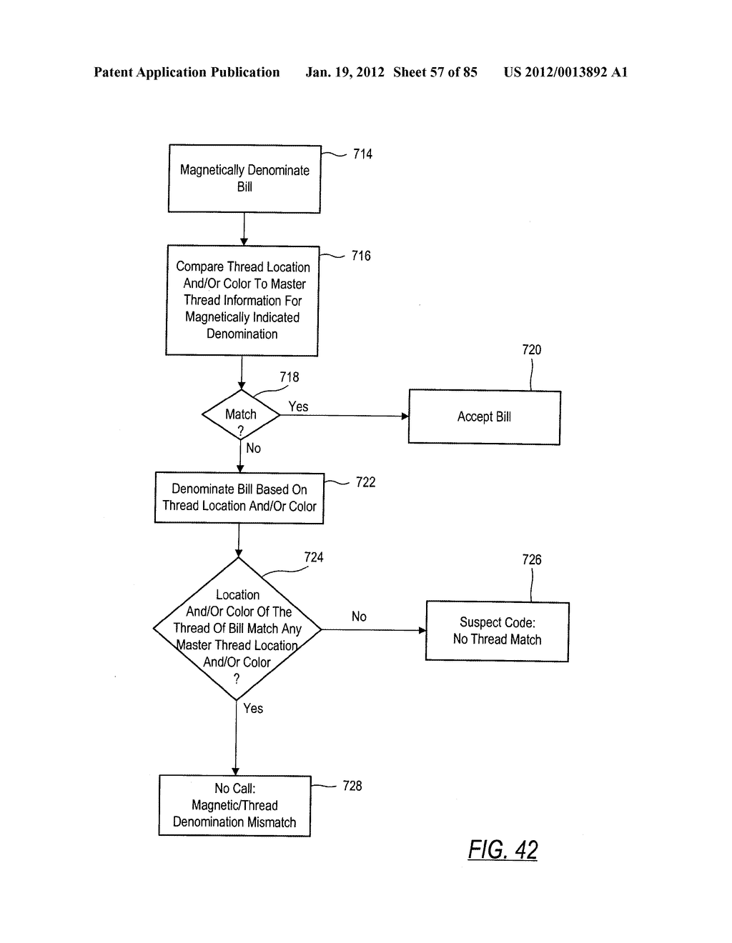 CHECK AND U.S. BANK NOTE PROCESSING DEVICE AND METHOD - diagram, schematic, and image 58