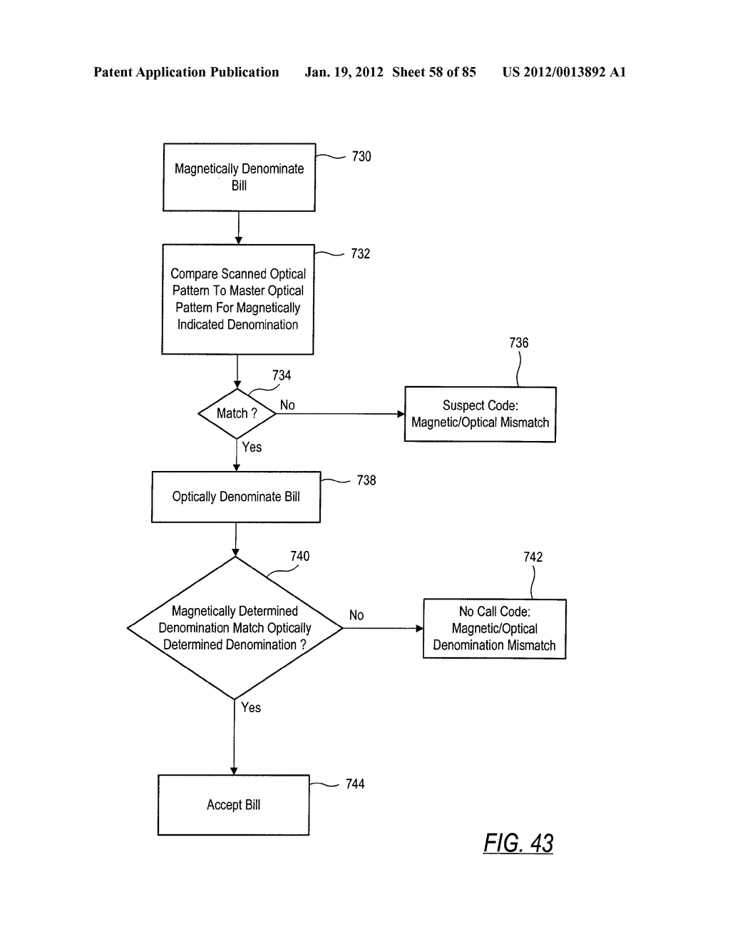 CHECK AND U.S. BANK NOTE PROCESSING DEVICE AND METHOD - diagram, schematic, and image 59