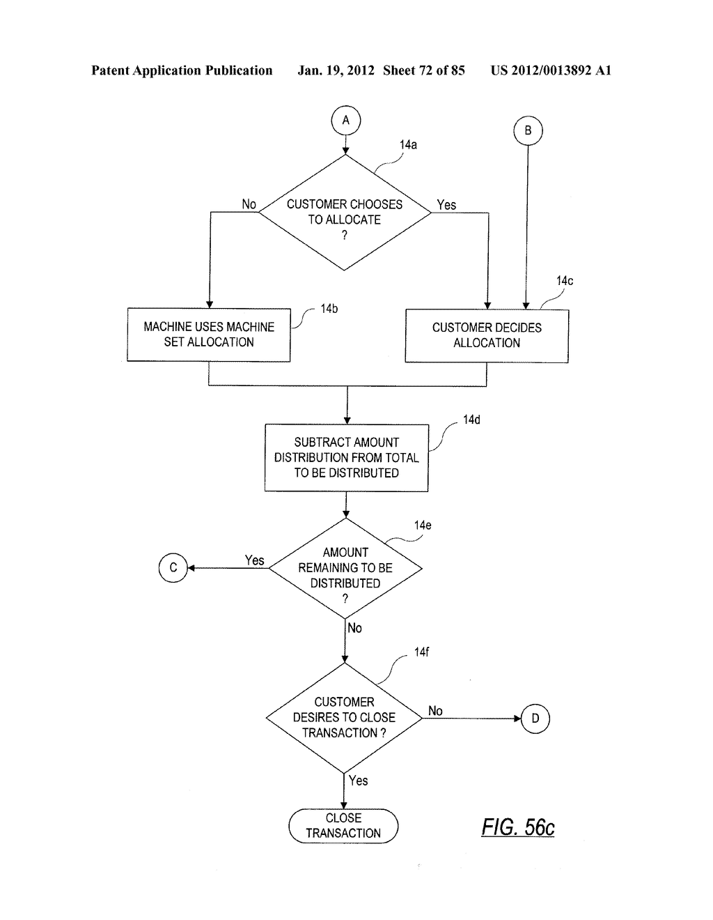CHECK AND U.S. BANK NOTE PROCESSING DEVICE AND METHOD - diagram, schematic, and image 73