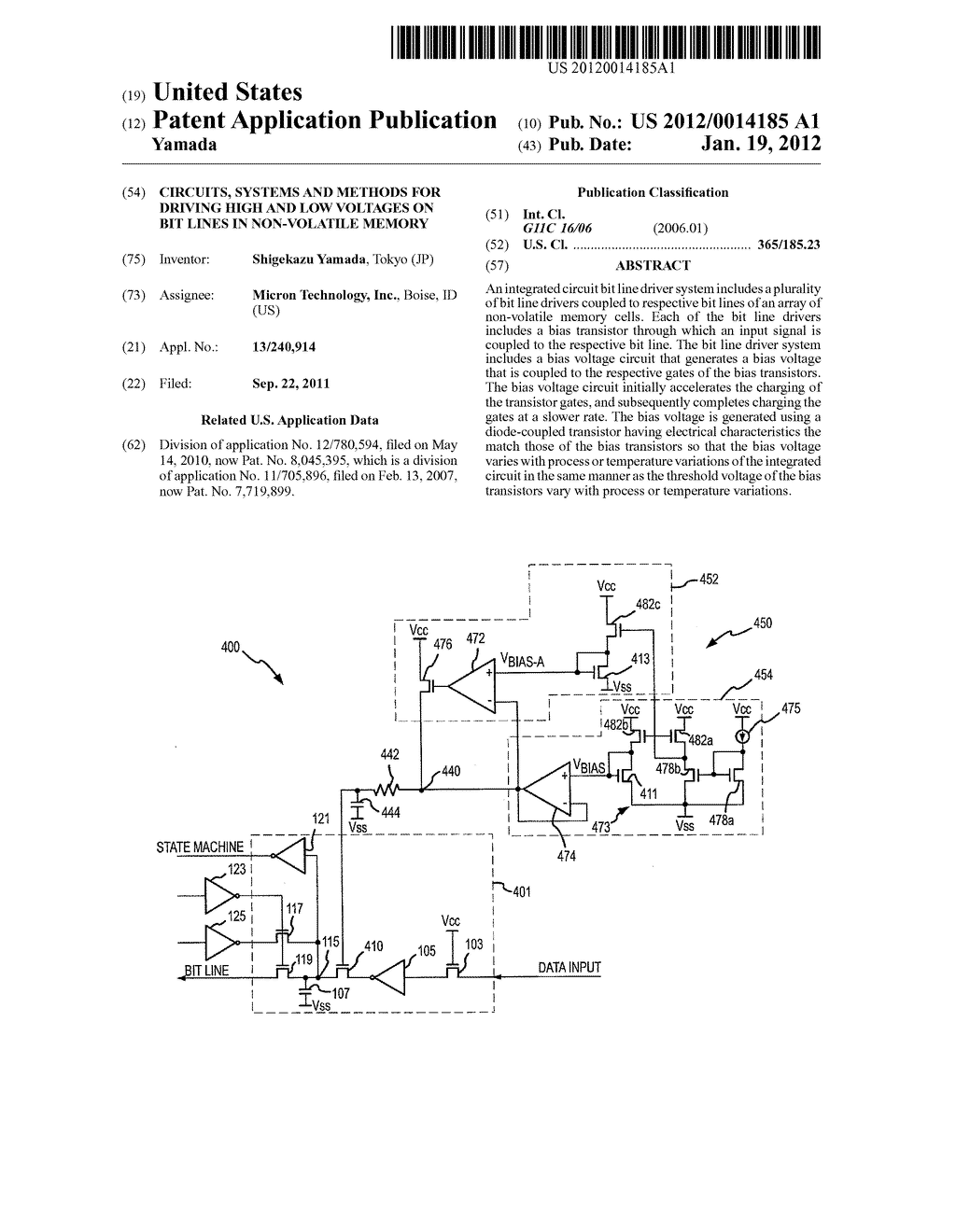 CIRCUITS, SYSTEMS AND METHODS FOR DRIVING HIGH AND LOW VOLTAGES ON BIT     LINES IN NON-VOLATILE MEMORY - diagram, schematic, and image 01