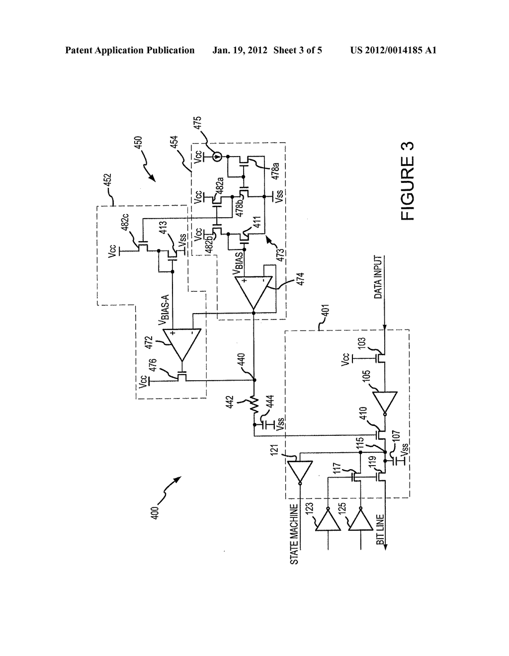 CIRCUITS, SYSTEMS AND METHODS FOR DRIVING HIGH AND LOW VOLTAGES ON BIT     LINES IN NON-VOLATILE MEMORY - diagram, schematic, and image 04