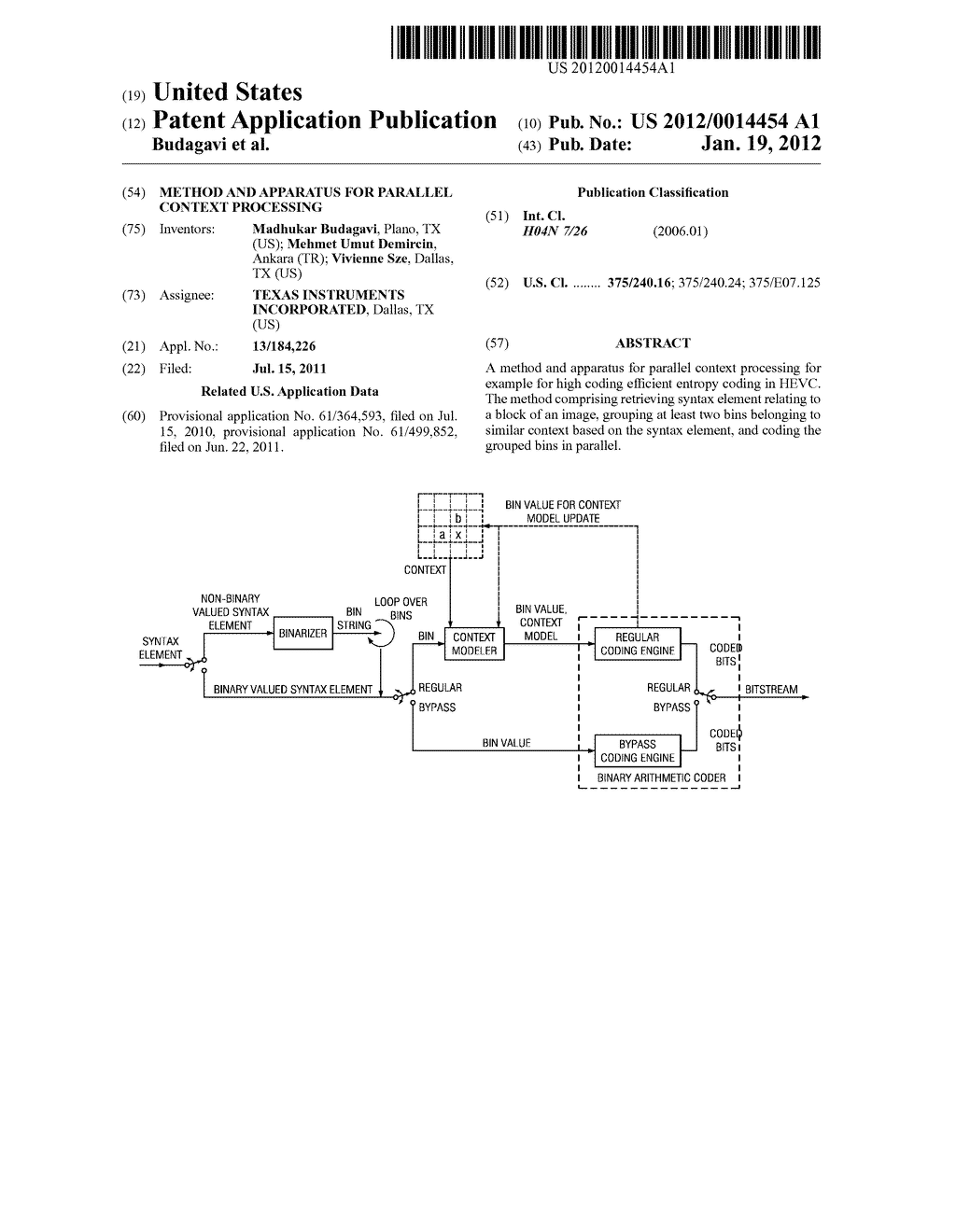 Method and Apparatus for Parallel Context Processing - diagram, schematic, and image 01