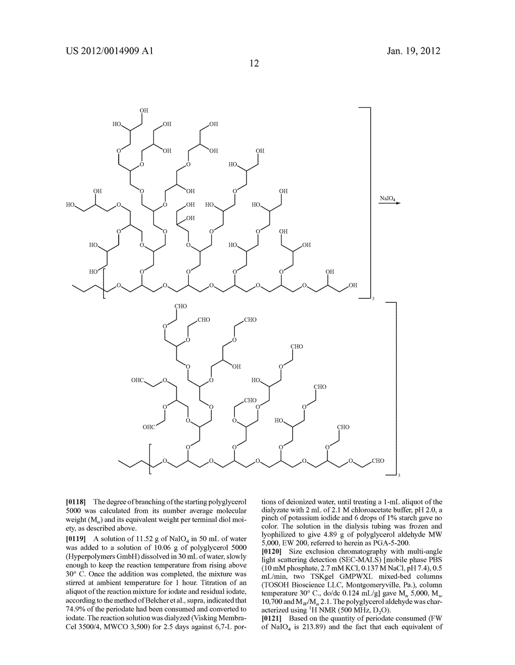 TISSUE ADHESIVE AND SEALANT COMPRISING POLYGLYCEROL ALDEHYDE - diagram, schematic, and image 13