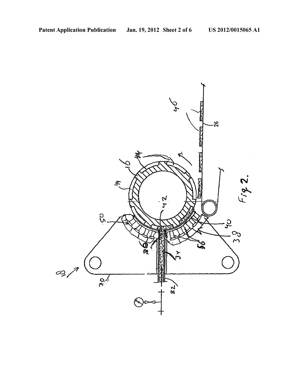 MASS-DISTRIBUTING DEVICE AND MOULDING DEVICE COMPRISING A     MASS-DISTRIBUTING DEVICE OF THIS TYPE - diagram, schematic, and image 03