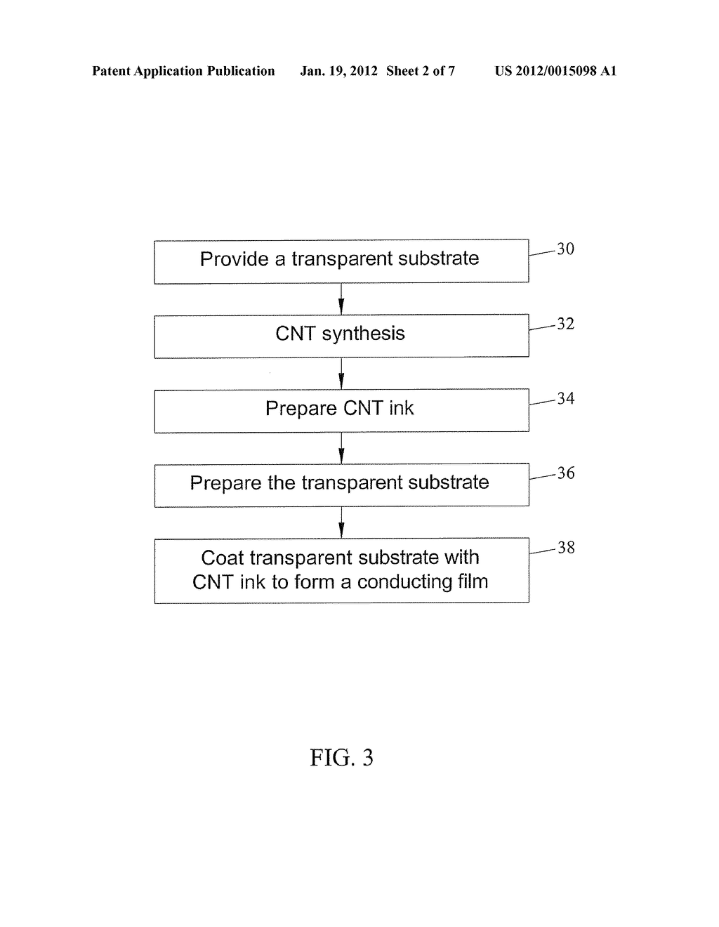 CARBON NANOTUBE BASED TRANSPARENT CONDUCTIVE FILMS AND METHODS FOR     PREPARING AND PATTERNING THE SAME - diagram, schematic, and image 03