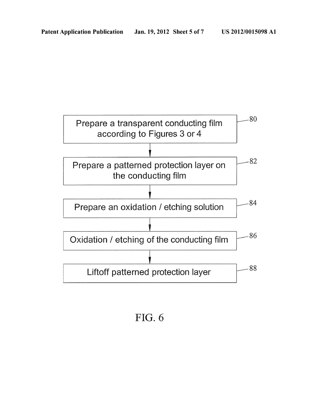 CARBON NANOTUBE BASED TRANSPARENT CONDUCTIVE FILMS AND METHODS FOR     PREPARING AND PATTERNING THE SAME - diagram, schematic, and image 06