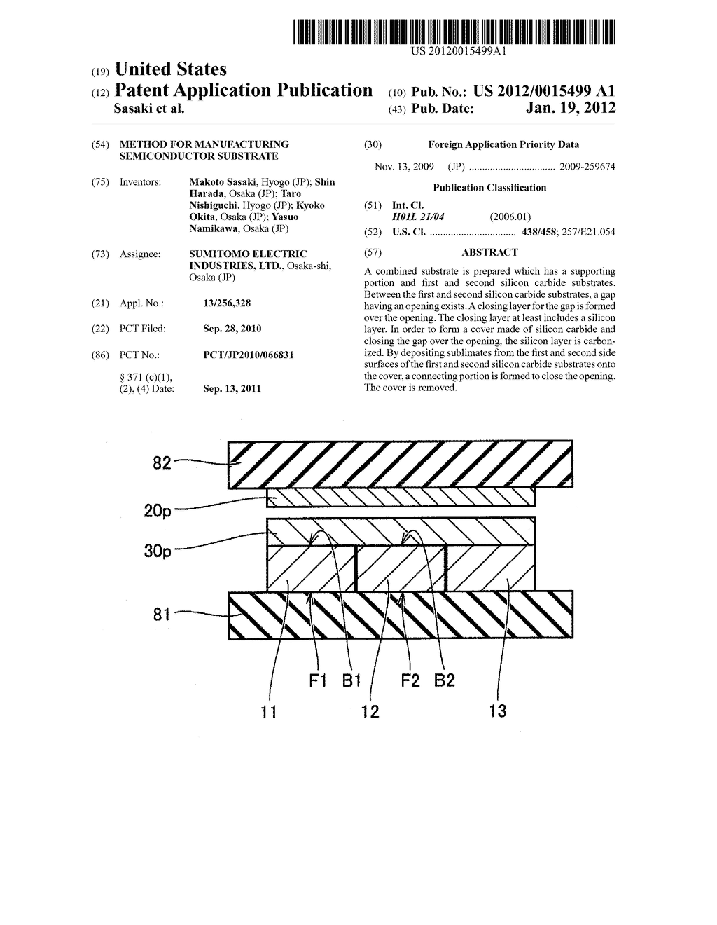 METHOD FOR MANUFACTURING SEMICONDUCTOR SUBSTRATE - diagram, schematic, and image 01