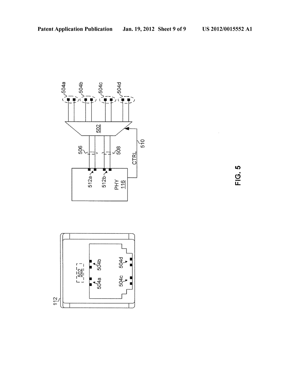 METHOD AND SYSTEM FOR A CONFIGURABLE CONNNECTOR FOR ETHERNET - diagram, schematic, and image 10