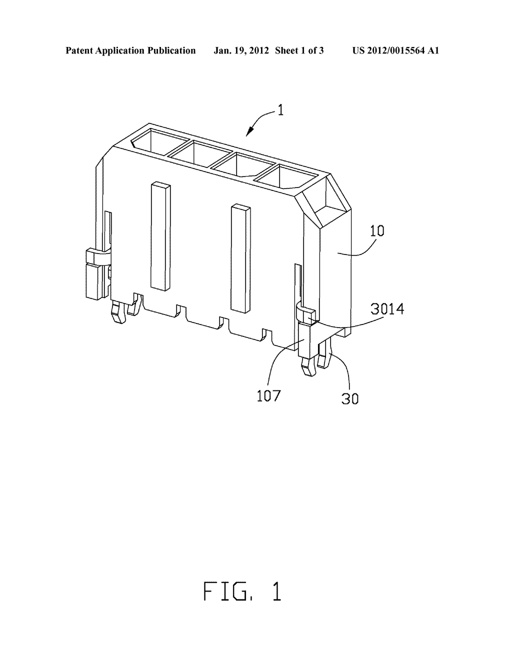 ELECTRICAL CONNECTOR WITH IMPROVED BOARD LOCK AND METHOD OF ASSEMBLING THE     SAME - diagram, schematic, and image 02