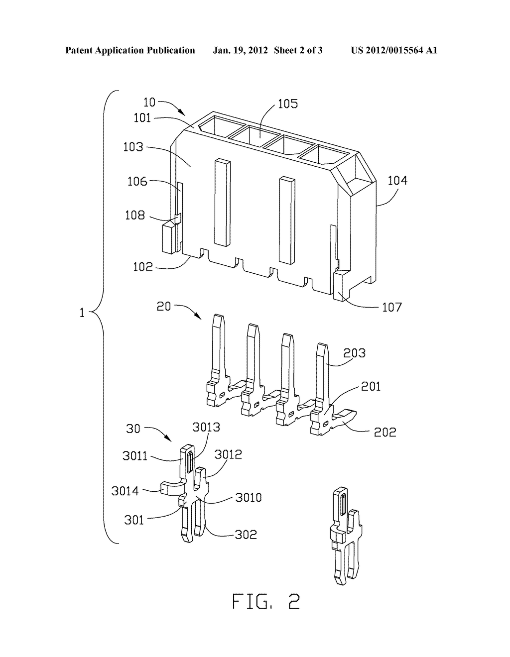 ELECTRICAL CONNECTOR WITH IMPROVED BOARD LOCK AND METHOD OF ASSEMBLING THE     SAME - diagram, schematic, and image 03