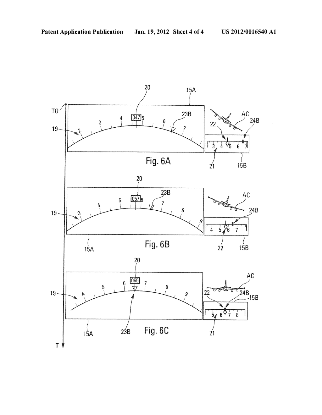 Method And Device For Aiding The Control Of Guiding Modes Transitions Of     An Aircraft - diagram, schematic, and image 05