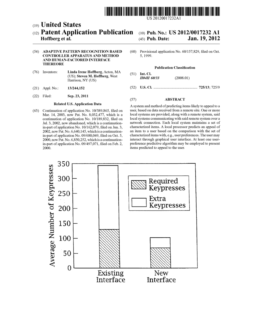 ADAPTIVE PATTERN RECOGNITION BASED CONTROLLER APPARATUS AND METHOD AND     HUMAN-FACTORED INTERFACE THEREORE - diagram, schematic, and image 01