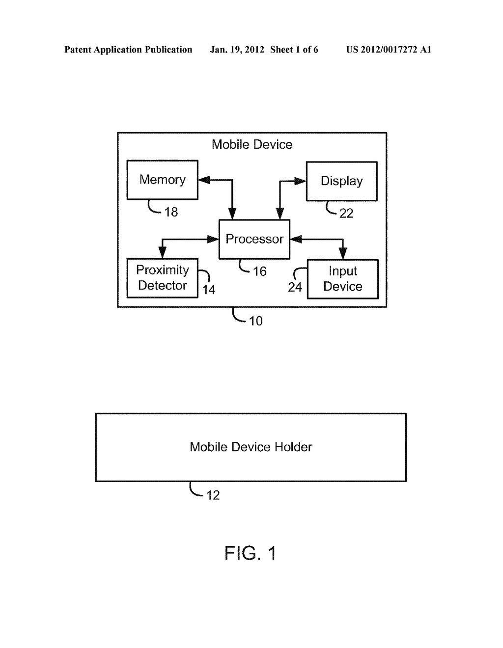 System and Method of Security Function Activation for a Mobile Electronic     Device - diagram, schematic, and image 02
