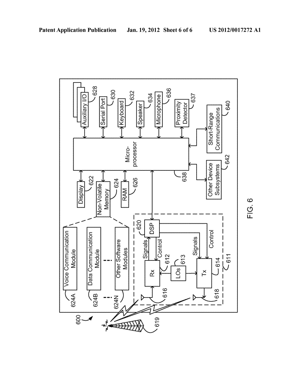 System and Method of Security Function Activation for a Mobile Electronic     Device - diagram, schematic, and image 07