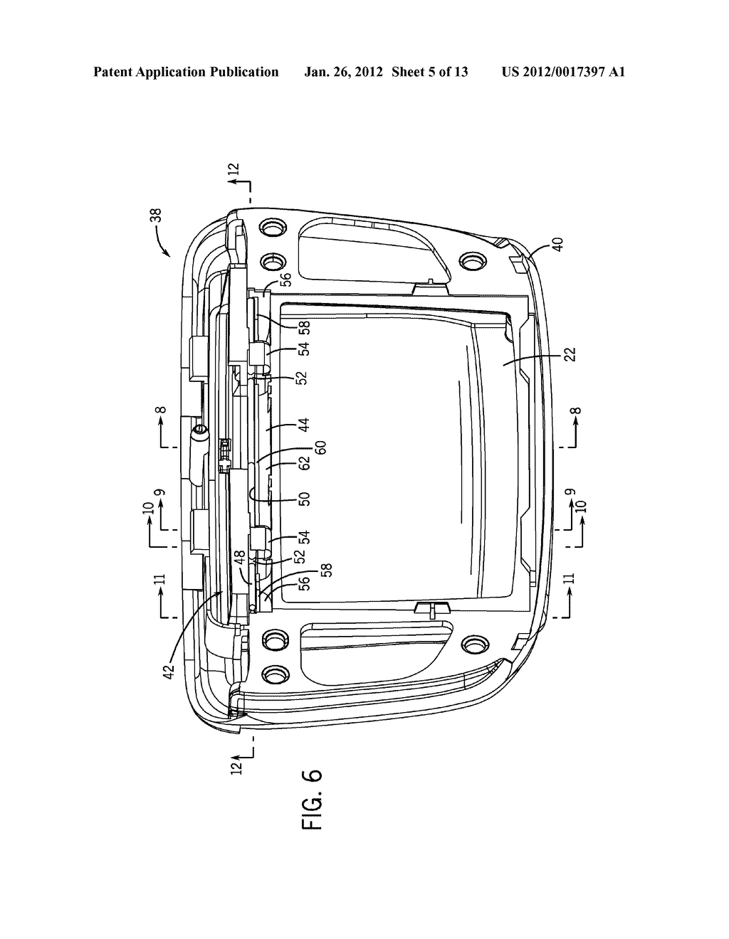 HINGE ASSEMBLY FOR VEHICLE INTERIOR TRIM COMPONENT - diagram, schematic, and image 06