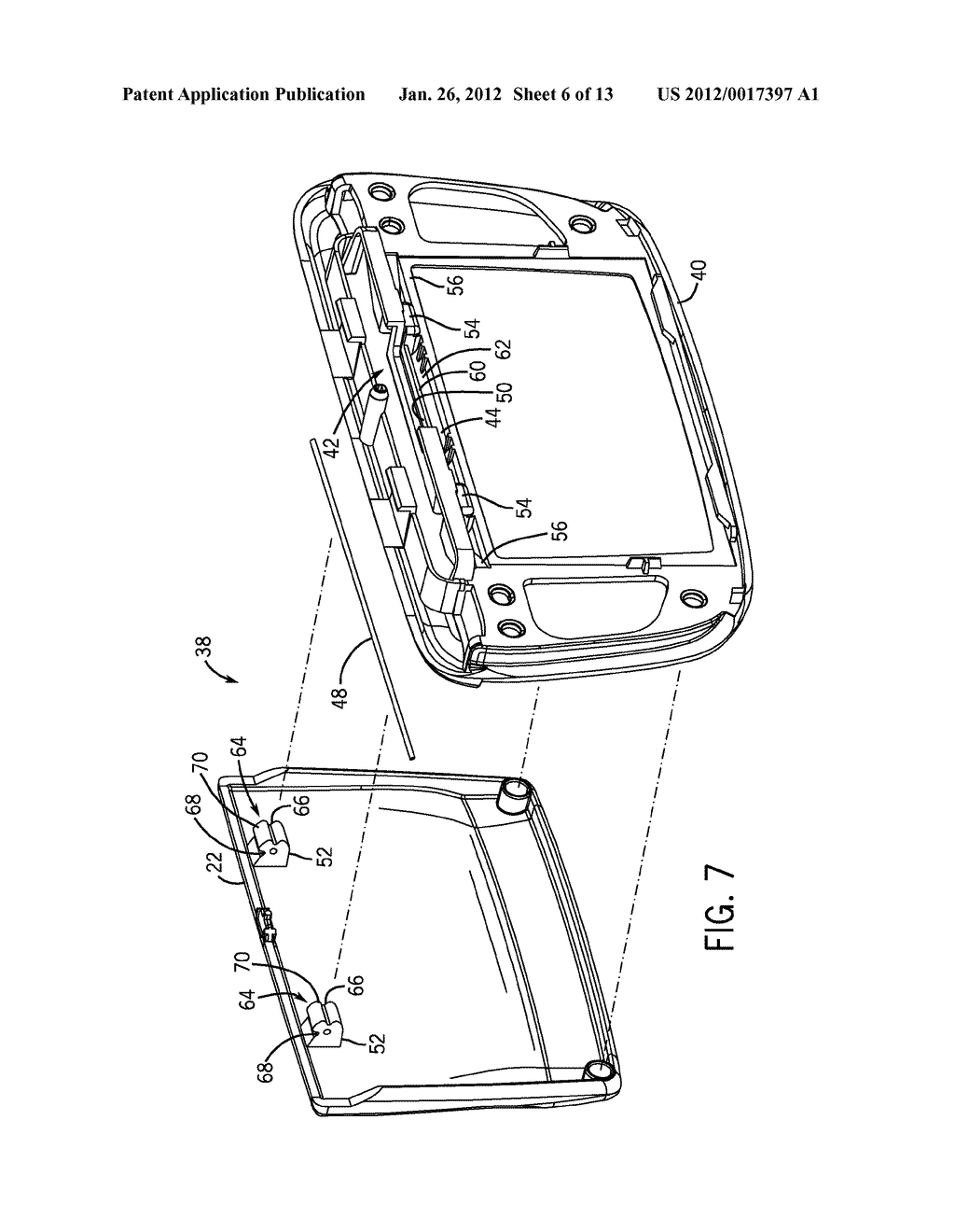 HINGE ASSEMBLY FOR VEHICLE INTERIOR TRIM COMPONENT - diagram, schematic, and image 07