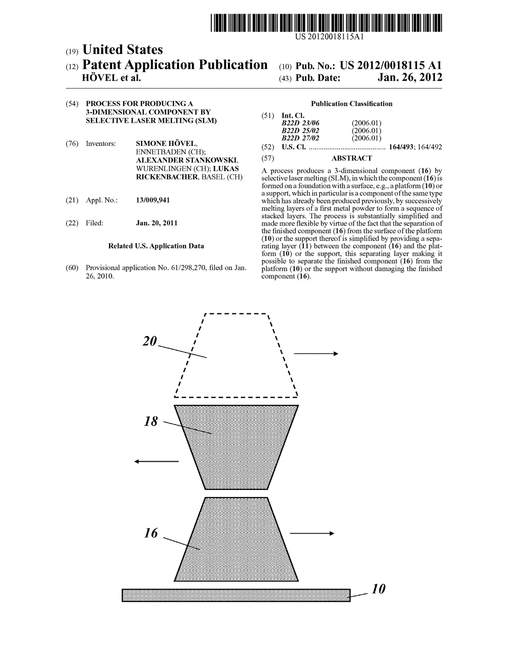 PROCESS FOR PRODUCING A 3-DIMENSIONAL COMPONENT BY SELECTIVE LASER MELTING     (SLM) - diagram, schematic, and image 01