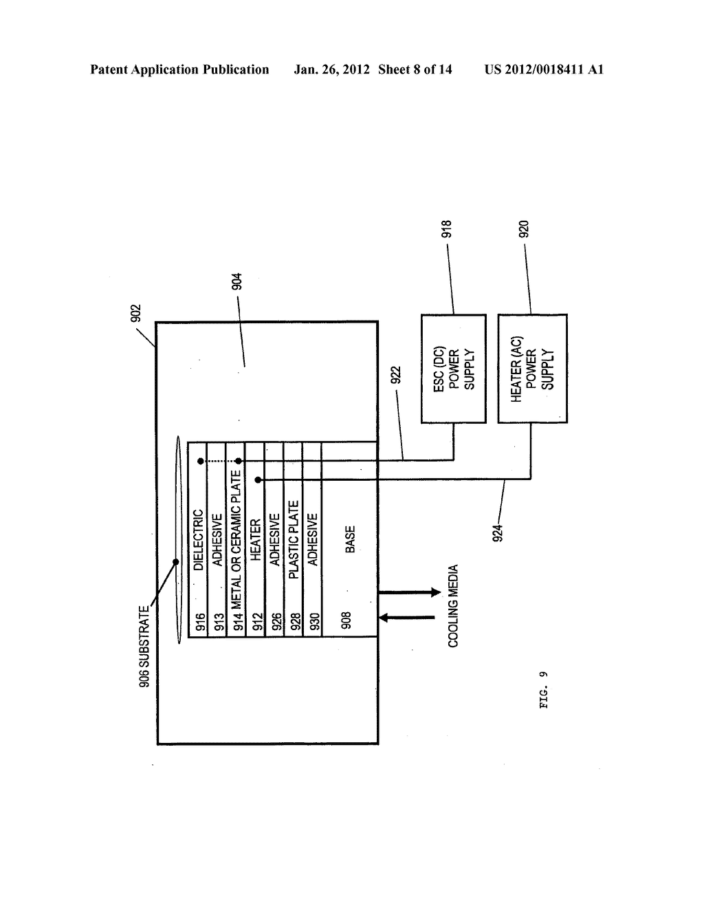 APPARATUS FOR SPATIAL AND TEMPORAL CONTROL OF TEMPERATURE ON A SUBSTRATE - diagram, schematic, and image 09