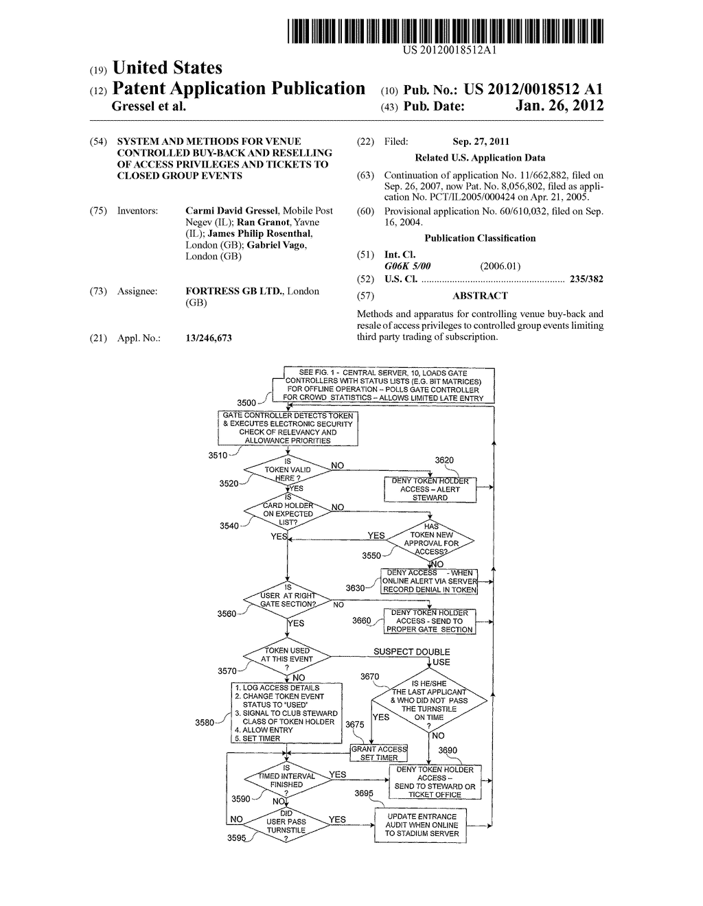 SYSTEM AND METHODS FOR VENUE CONTROLLED BUY-BACK AND RESELLING OF ACCESS     PRIVILEGES AND TICKETS TO CLOSED GROUP EVENTS - diagram, schematic, and image 01