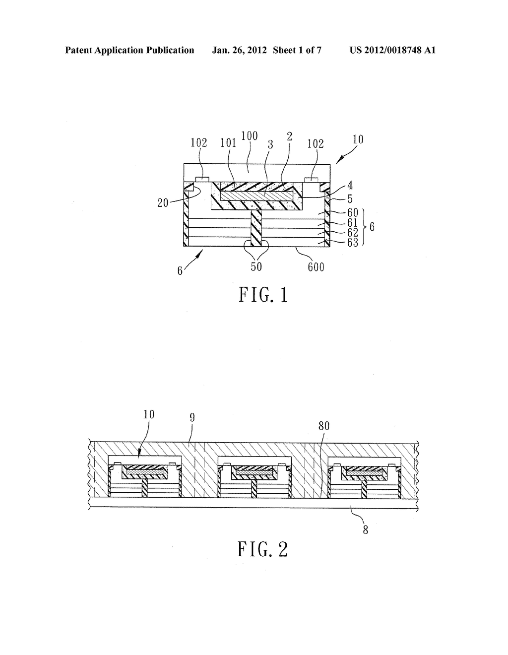 LIGHT EMITTING DIODE DEVICE AND METHOD FOR FABRICATING THE SAME - diagram, schematic, and image 02
