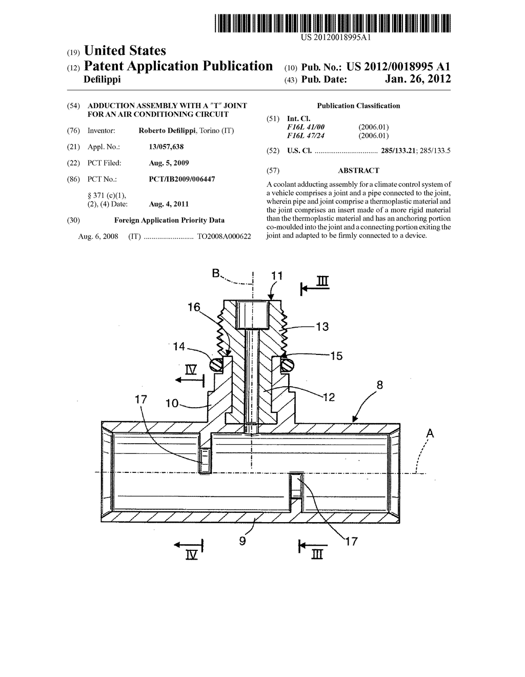 Adduction Assembly With A T Joint For An Air Conditioning Circuit Conditioner Diagram Schematic And Image 01
