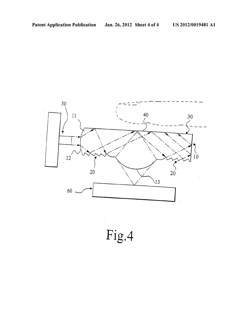 Controller of Contact Sensing Type Using Optical Principle for Controlling     a Pointer on a Display Screen - diagram, schematic, and image 05