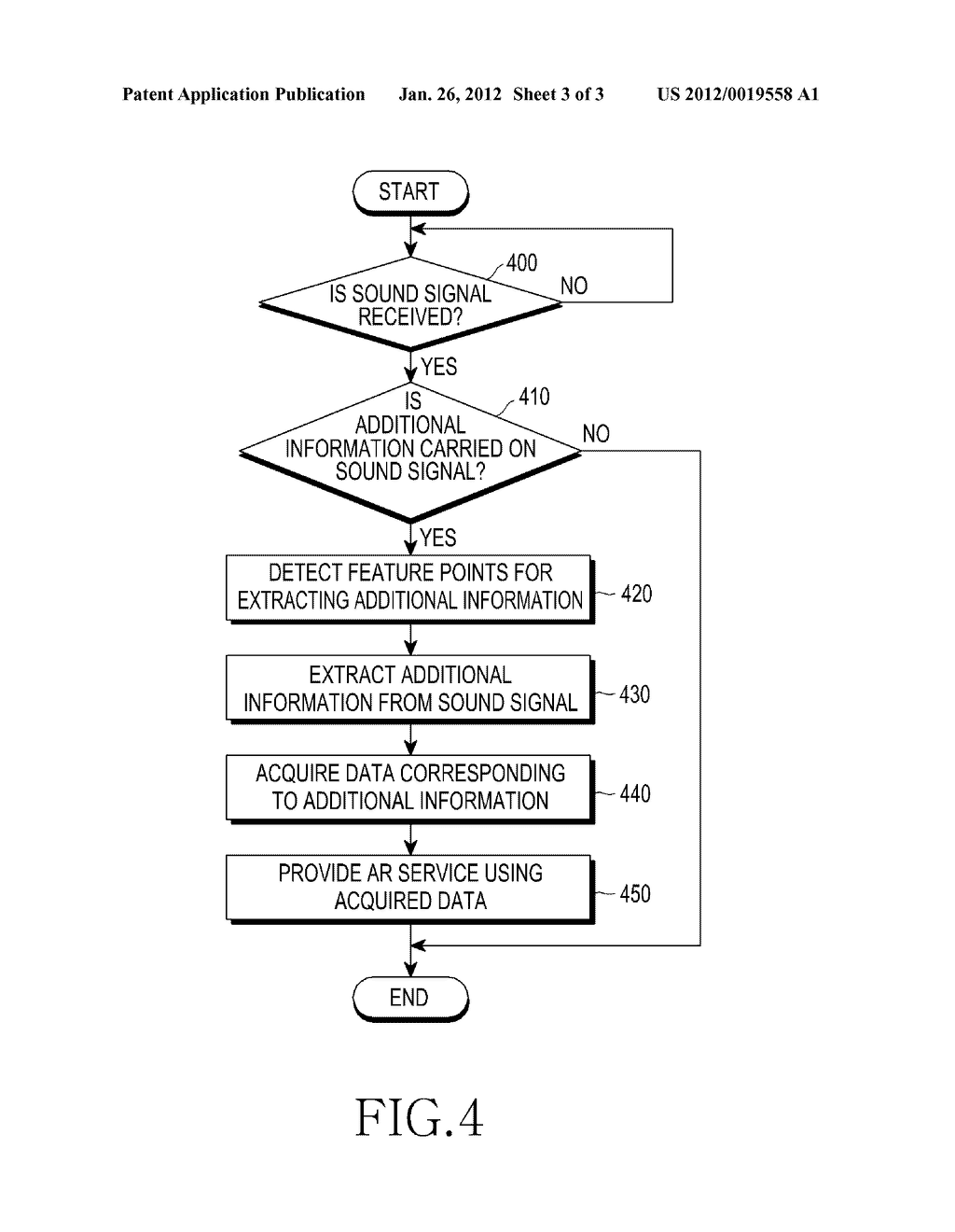 APPARATUS AND METHOD FOR PROVIDING AUGMENTED REALITY SERVICE USING SOUND - diagram, schematic, and image 04