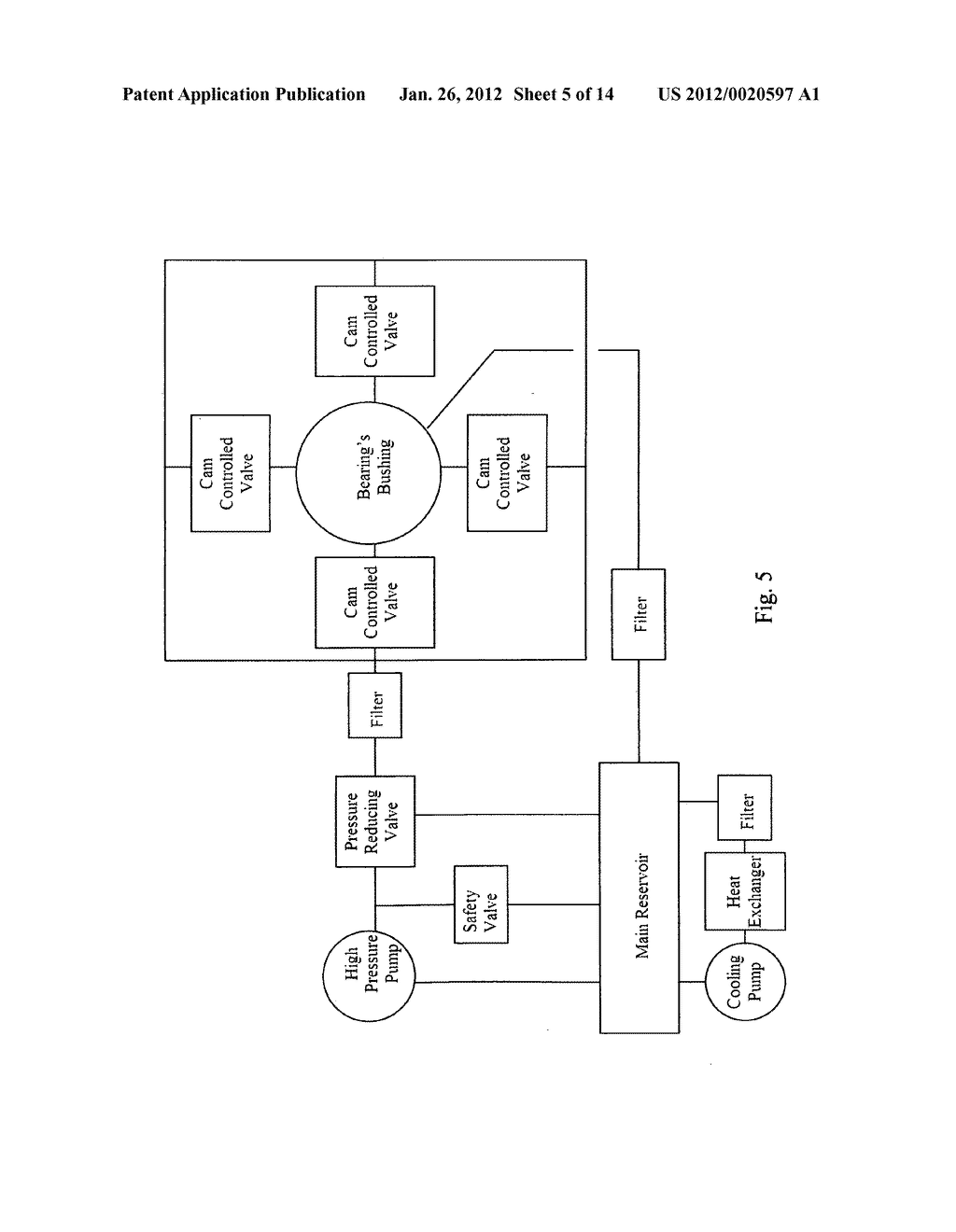 Active hydrostatic bearing, particularly for internal combustion     reciprocating engines, a fluid handling system associted therewith, and     method - diagram, schematic, and image 06