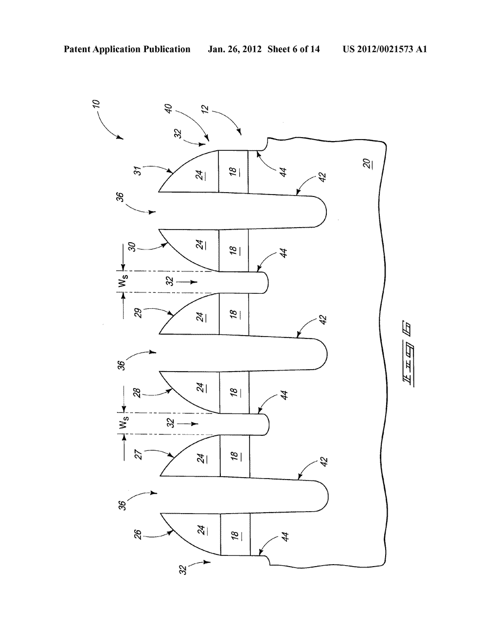 Methods Of Forming An Array Of Memory Cells, Methods Of Forming A     Plurality Of Field Effect Transistors, Methods Of Forming Source/Drain     Regions And Isolation Trenches, And Methods Of Forming A Series Of Spaced     Trenches Into A Substrate - diagram, schematic, and image 07