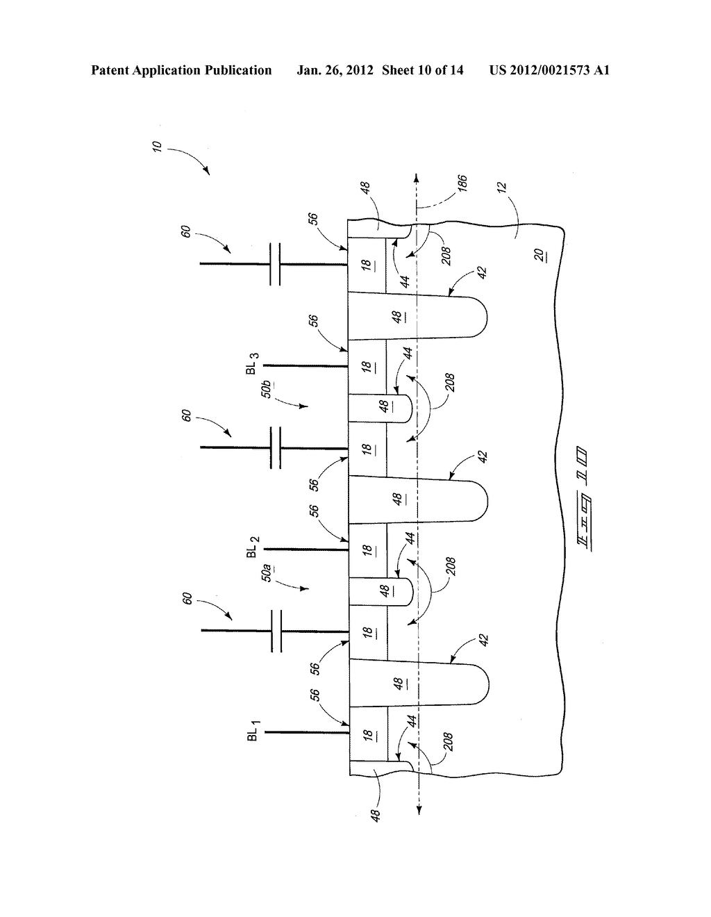 Methods Of Forming An Array Of Memory Cells, Methods Of Forming A     Plurality Of Field Effect Transistors, Methods Of Forming Source/Drain     Regions And Isolation Trenches, And Methods Of Forming A Series Of Spaced     Trenches Into A Substrate - diagram, schematic, and image 11