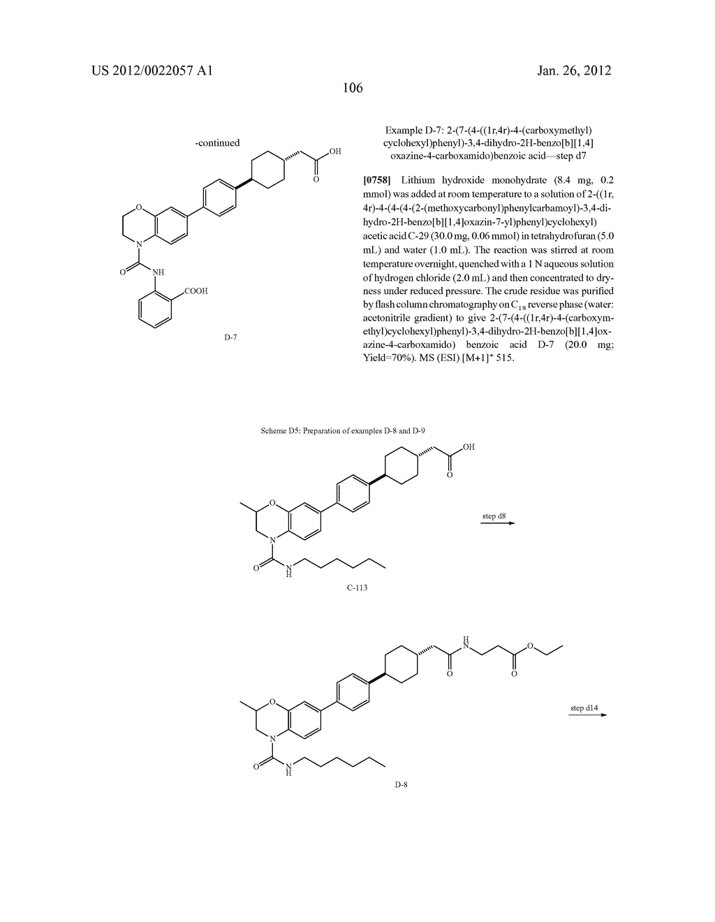 BICYCLIC COMPOUNDS AS INHIBITORS OF DIACYGLYCEROL ACYLTRANSFERASE - diagram, schematic, and image 107