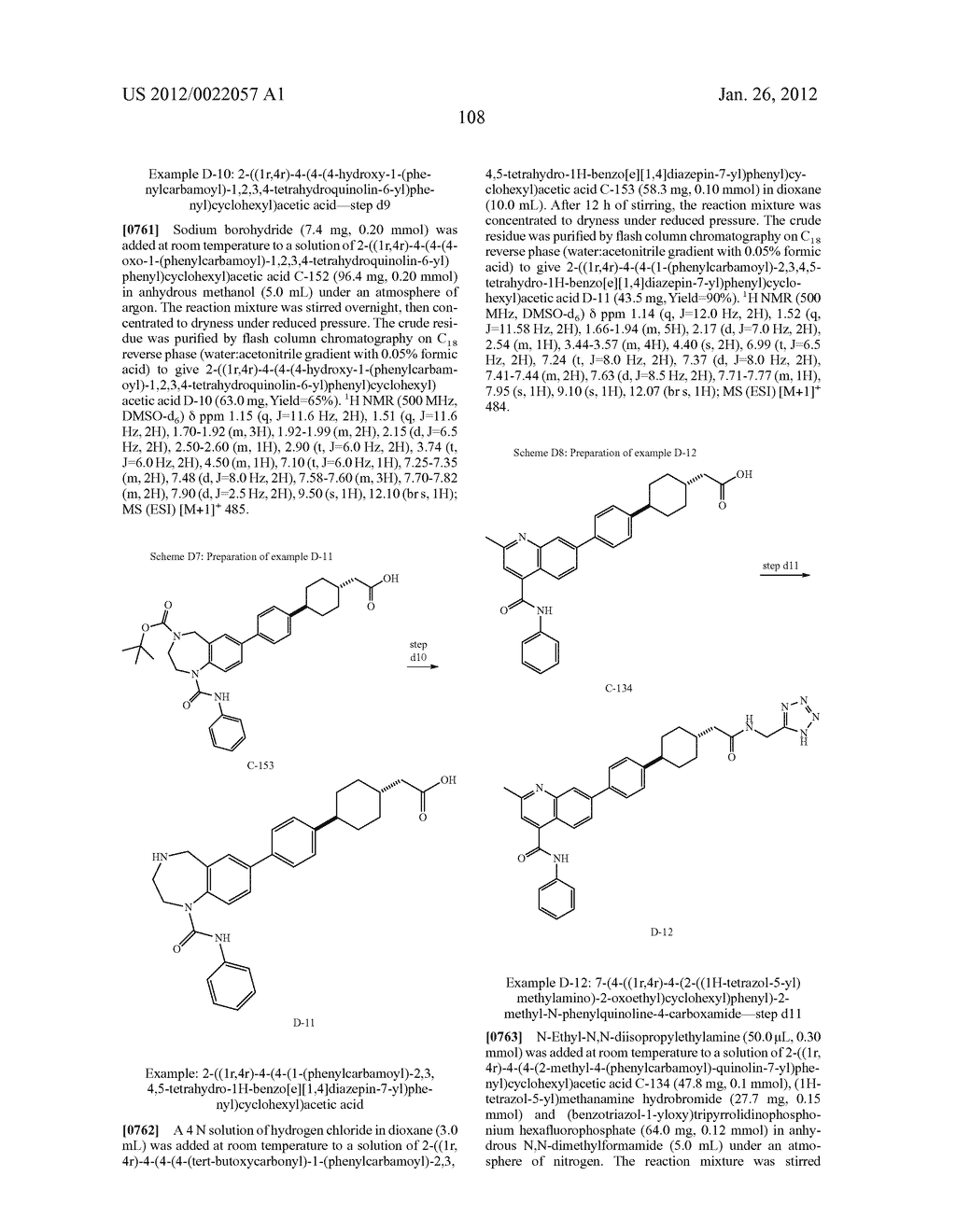 BICYCLIC COMPOUNDS AS INHIBITORS OF DIACYGLYCEROL ACYLTRANSFERASE - diagram, schematic, and image 109