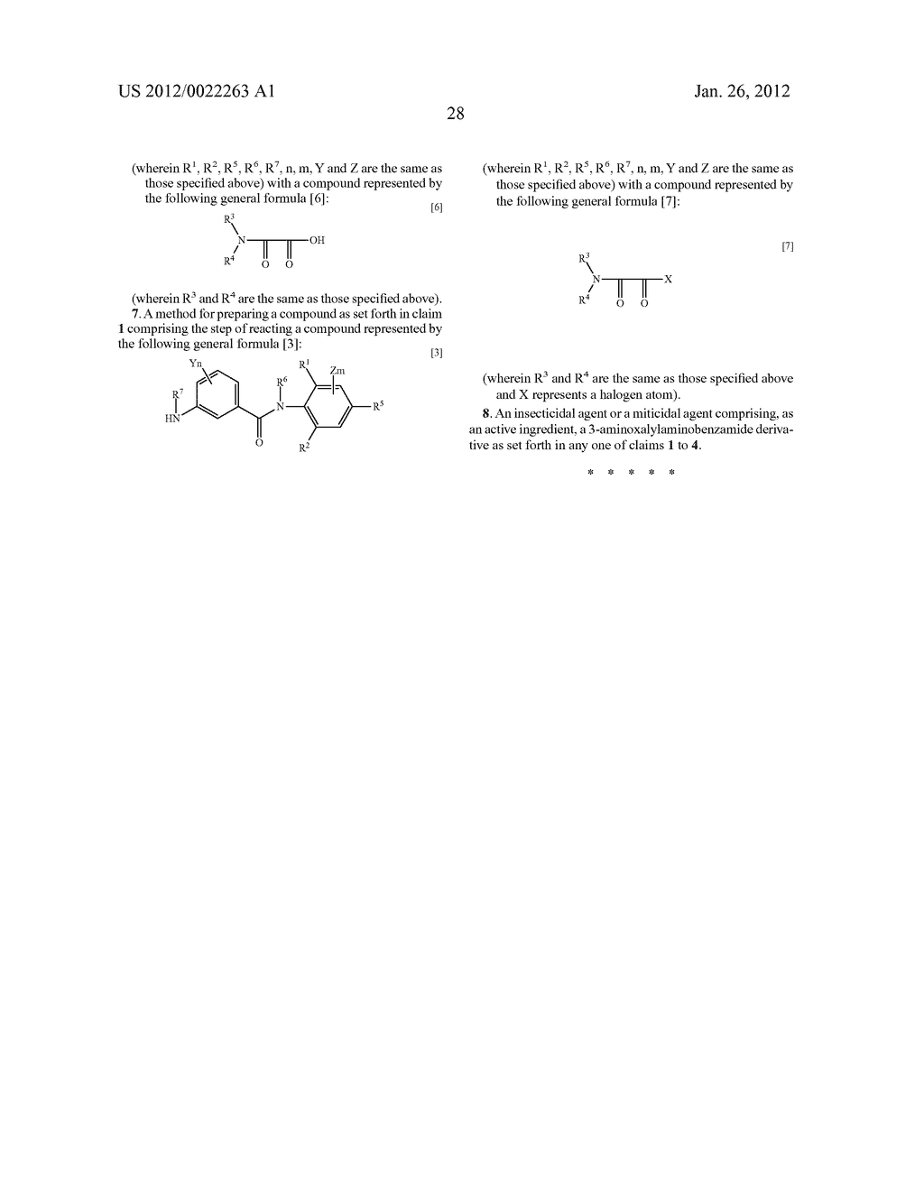 3-AMINOXALYL-AMINOBENZAMIDE DERIVATIVES AND INSECTICIDAL AND MITICIDAL     AGENTS CONTAINING SAME AS ACTIVE INGREDIENT - diagram, schematic, and image 29