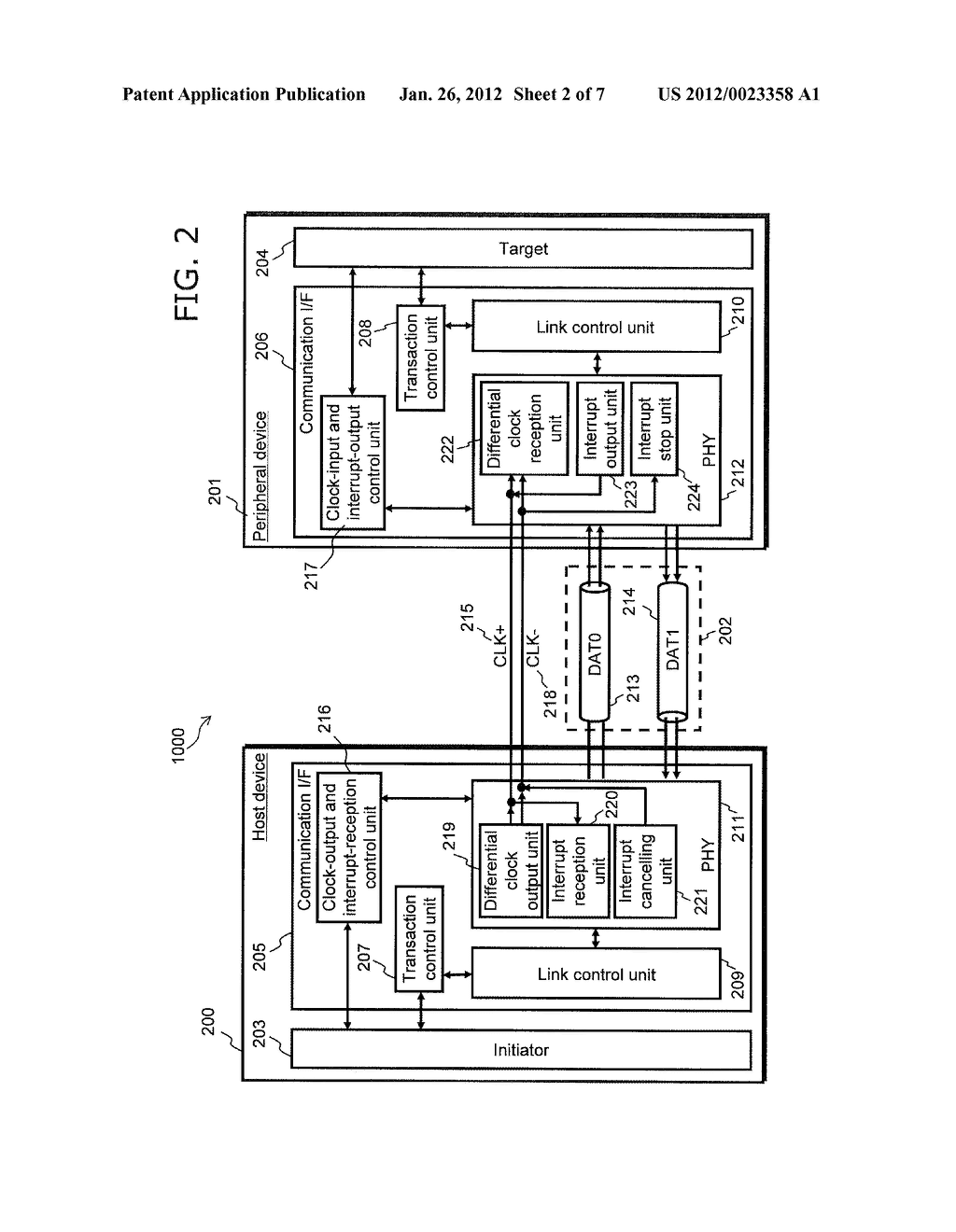 HOST DEVICE, PERIPHERAL DEVICE, COMMUNICATION SYSTEM, AND COMMUNICATION     METHOD - diagram, schematic, and image 03