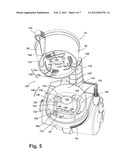 VACUUM CLEANER WITH LATCH MECHANISM diagram and image