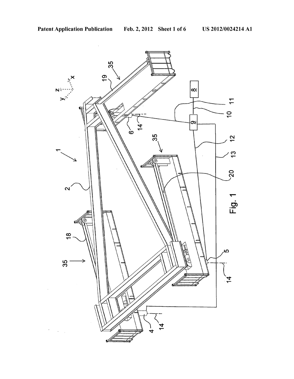 MOTION COMPENSATION DEVICE FOR COMPENSATING A CARRIER FRAME ON A VESSEL     FOR WATER MOTION - diagram, schematic, and image 02