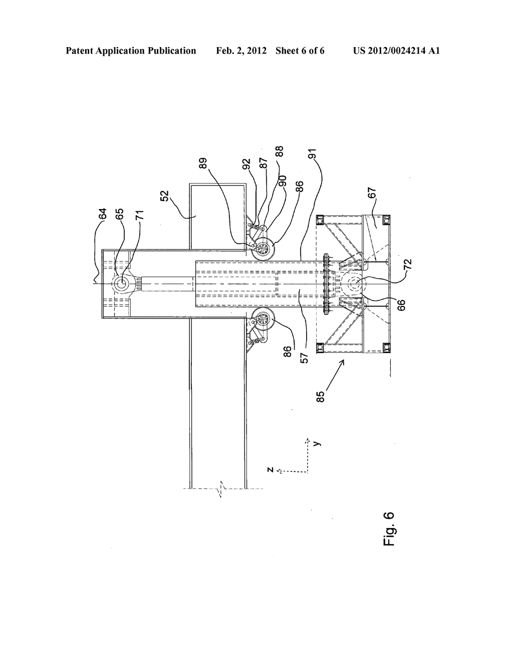 MOTION COMPENSATION DEVICE FOR COMPENSATING A CARRIER FRAME ON A VESSEL     FOR WATER MOTION - diagram, schematic, and image 07