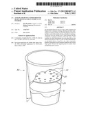 ANTI-SPLASH DEVICE CONFIGURED FOR REMOVABLE PLACEMENT WITHIN A CUP     INTERIOR diagram and image