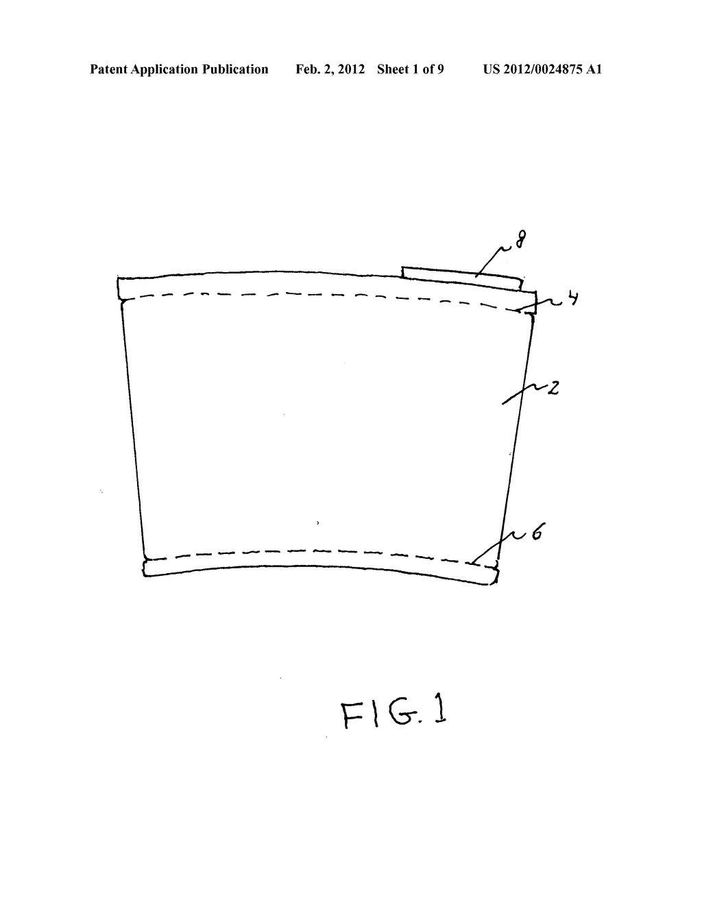 Insulating cup sleeve - diagram, schematic, and image 02