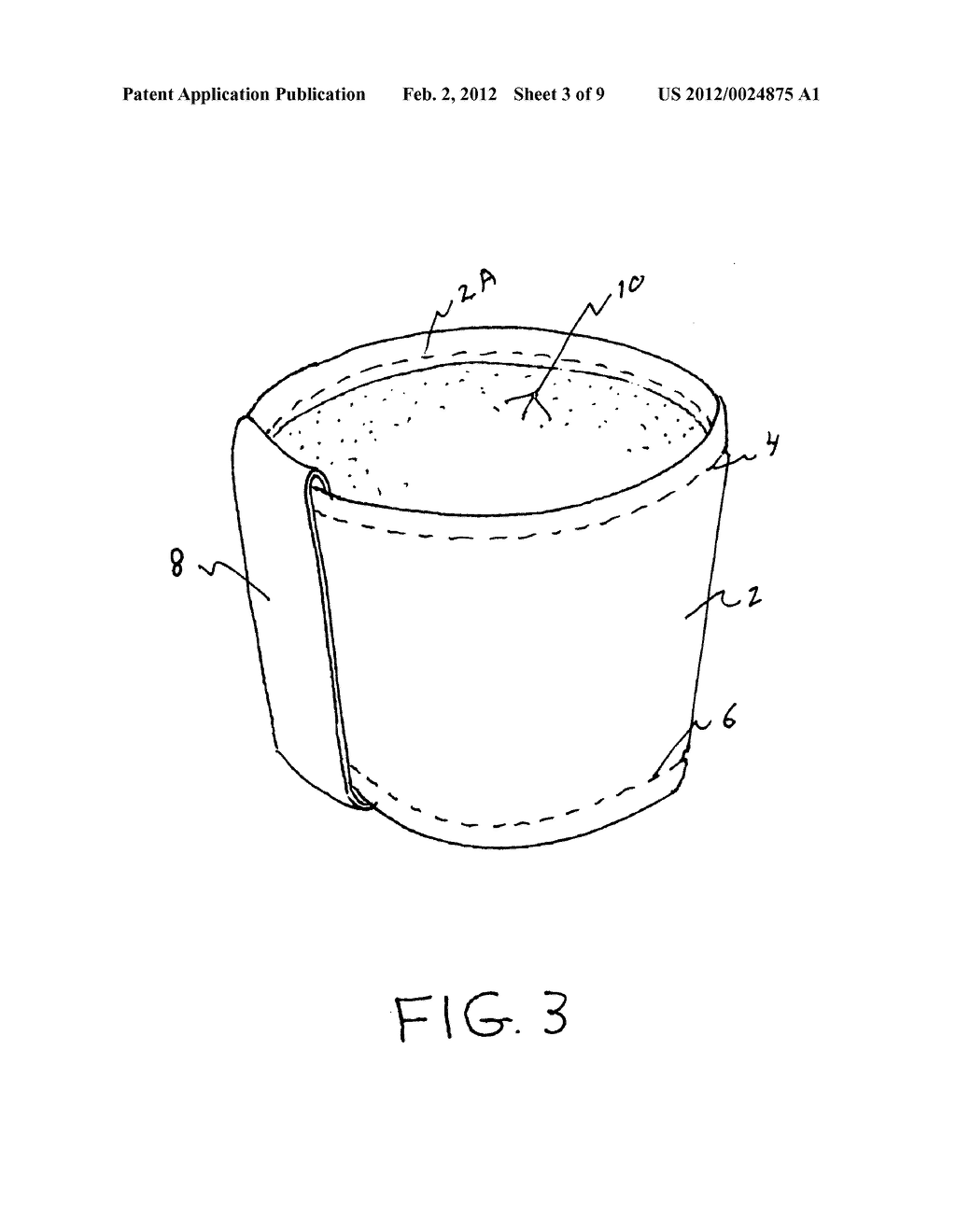 Insulating cup sleeve - diagram, schematic, and image 04