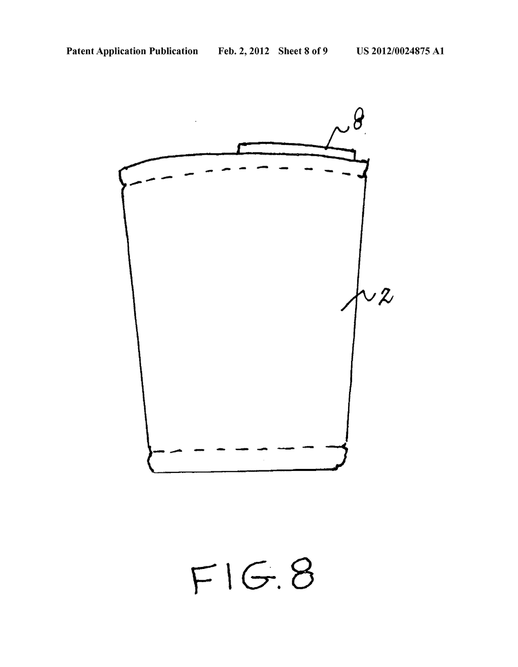Insulating cup sleeve - diagram, schematic, and image 09